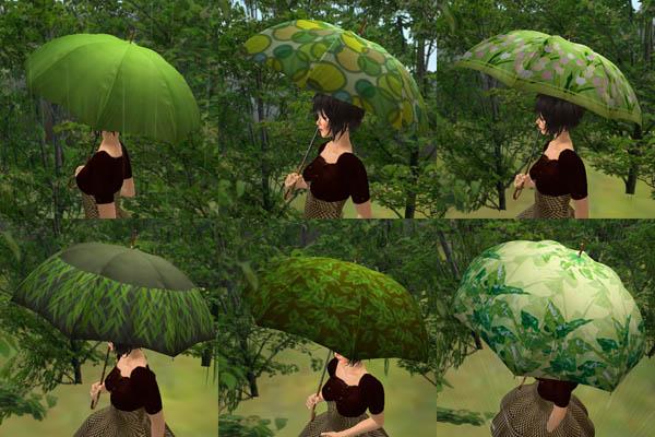 緑系統の傘