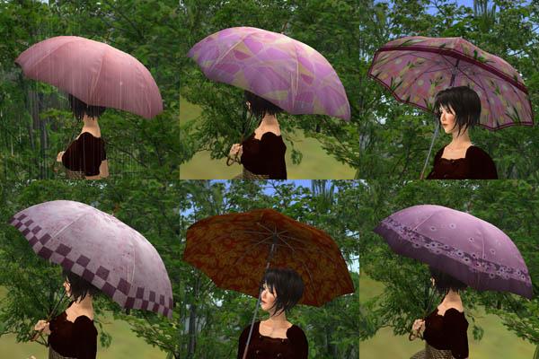 赤系統の傘